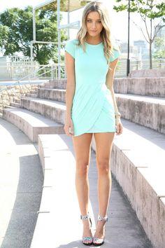 mint colored dress