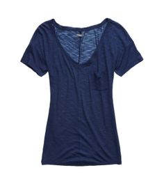 Aerie Slim Fit V-Neck Pocket T-Shirt