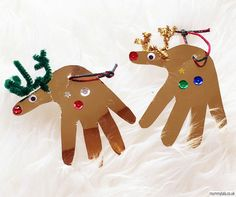 Reindeer Handprint Christmas Decorations