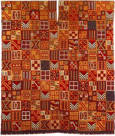 Priceless textile art from the Inca period in pre-hispanic South America. Stellar design and colors