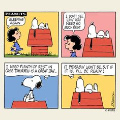 Snoopy needs his rest.