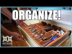 Kitchen Drawer Organizer. DIY woodworking project - YouTube