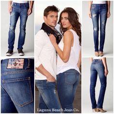For a weekend getaway...Laguna Beach Jean Co. Destroyed 5 Pocket Jeans (Laguna) www.lagunabeachjc.com #rocktheoclifestyle