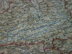 Original 100 year old map of Carinthia Austria by VintageOldMaps