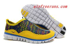 64cd8d571adb 2013 Unisex Nike Free 3.0 Yellow Jade Weave Rainbow Cheap Running Shoes