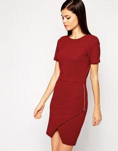 I am such a sucker for a red dress. SUCH A SUCKER. ASOS Body-Conscious Dress in Rib with Asymmetric Hem
