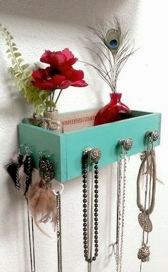 202Material: Use old drawers for creative shelves.