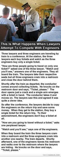Lawyers Vs. Engineers