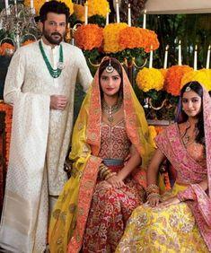 Anil Kapoor, Sonam Kapoor and Rhea Kapoor for Hello! Indian Celebrities, Bollywood Celebrities, Bollywood Fashion, Bollywood Actress, Bollywood Stars, Bollywood Couples, Bollywood Wedding, Wedding Sarees, Celebrities Fashion
