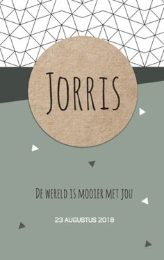 Geboortekaartje Jorris | BlijKaartje.nl