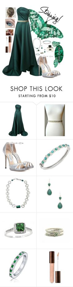"""""""Stunning Malachite Gown"""" by snowflakeunique ❤ liked on Polyvore featuring Jason Wu, Jimmy Choo, JudeFrances, Anna Beck, Bling Jewelry and Gucci"""