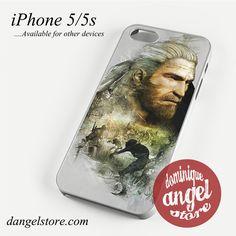 Witcher 3 Wild Hunt Geralt Art Phone case for iPhone 4/4s/5/5c/5s/6/6 plus
