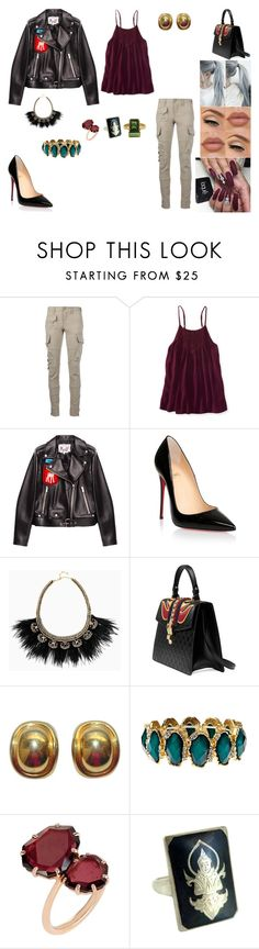 """""""&"""" by ohbabyimrachel ❤ liked on Polyvore featuring Ralph Lauren Blue Label, Aéropostale, Miu Miu, Christian Louboutin, Stella & Dot, Gucci, Christian Dior and Annoushka"""