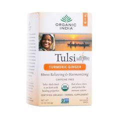 Organic India Organic Tulsi Turmeric Ginger Tea - Thrive Market