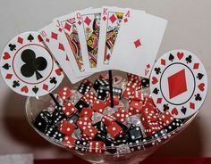 Centerpiece Fab 50 party - Casino theme                              …