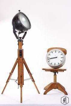 WERKE - Stativlampe Stehlampe Loft leuchte tripod lampe Vintage Originale Industrieleuchten Industrielampen Arri Midgard Werkstattlampe Fabriklampe