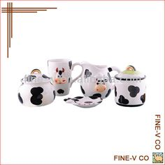Source ceramic canister set with cow design on m.alibaba.com