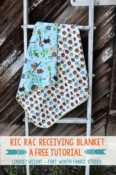 Fort Worth Fabric Studio: Ric Rac Receiving Blanket Tutorial. I've made a few of these and they are lovely.