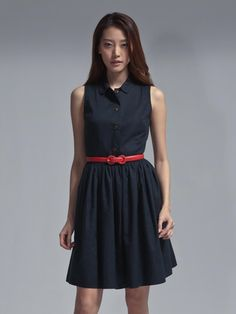 Cotton silk jacquard shirt dress By Shanghai Tang