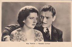 Details about  KAY FRANCIS & RONALD COLMAN 1930s Photo Postcard