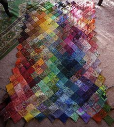 WOW! Ravelry: zephrbabe's Mitered Square Sock Yarn Blanket #2