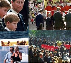 Princess Diana funeral collage