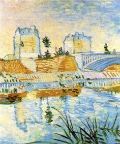 The Seine with the Pont de Clichy - Vincent van Gogh