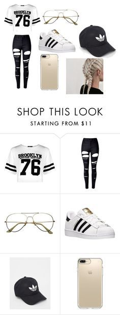 """""""Adidas"""" by killingit121 on Polyvore featuring Boohoo, WithChic, adidas and Speck"""