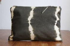 TIE DYE CLUTCH. Oversized Leather Clutch. Boho by gracedesign