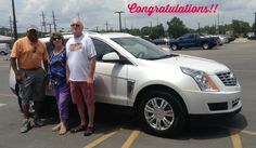 """We would like to congratulate Red and Shari Ehlers on their new vehicle- this classy 2015 Cadillac SRX that they purchased at the """"Battle of the Brands"""" sale! Enjoy it! They are pictured with Kevin Randolph, Sales Consultant. Butch Oustalet Chevrolet Cadillac- Pascagoula, Biloxi, Gulfport, Mobile"""