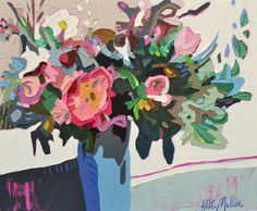 Oil painting by Kate Mullin. flower painting. thick paint