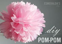 How to make those cute pompoms! Hobbies And Crafts, Crafts For Kids, Arts And Crafts, Paper Crafts, Diy Crafts, Pom Pom Crafts, Flower Crafts, Wedding Mint Green, Childrens Party