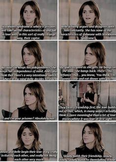 Emma Watson - Beauty and the Beast. FINALLY someone says that Beauty and the Beast is NOT a story about Stockholm Syndrome.