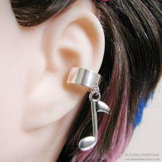 Silver+Music+Note+Cartilage+Ear+Cuff+by+merigreenleaf+on+Etsy,+$4.75 cutee