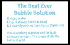 giant bubbles recipe | ... Learning: Bonus Activity: DIY Giant Bubble Blower {Bubble Week