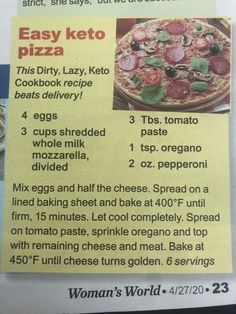 Keto Pizza #ketodietplan Keto Friendly Fruit, Keto Fruit, Keto Cookies, Keto Donuts, Keto Shopping List, Starting Keto, Keto Mug Cake, Ground Beef Recipes Easy, Keto Taco