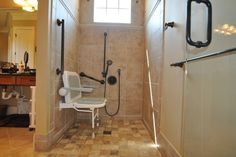 Handicapped Accessible Shower - traditional - bathroom - raleigh - Splash Galleries, Inc.