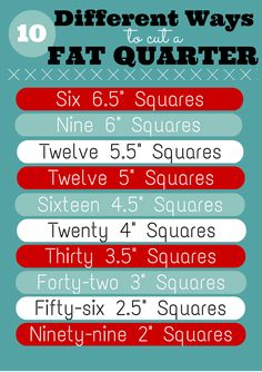 Get the most out of a Fat Quarter