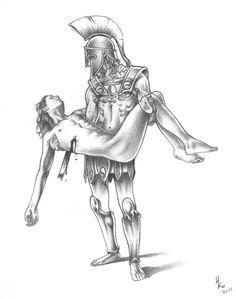 Greek Mythology Tattoos, Greek Mythology Art, Roman Mythology, Book Aesthetic, Character Aesthetic, Character Design, Honeysuckle Tattoo, Achilles And Patroclus, Percy Jackson