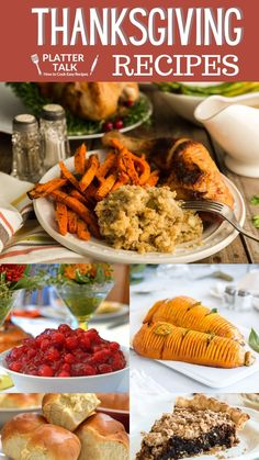 Learn what to cook for Thanksgiving with these simple traditional holiday recipe ideas from Platter Talk! From homemade rolls and pies to roasted turkey and mac and cheese, we'e got something for every taste. Traditional Thanksgiving Recipes, Best Thanksgiving Recipes, Holiday Recipes, Great Recipes, Thanksgiving Platter, Thanksgiving Turkey, Easy Cranberry Sauce, Roast Turkey Recipes, Homemade Rolls