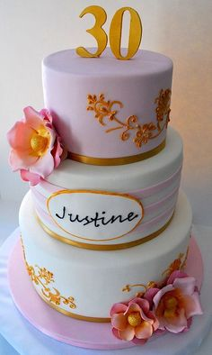 Justine's 30th Birthday cake | Flickr - Photo Sharing!