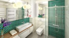 Znalezione obrazy dla zapytania turkusowa łazienka