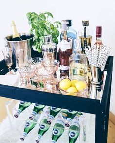 How to DIY a Bar Cart For Just $60!