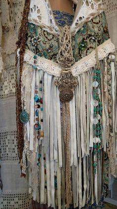 Final Payment Custom for Sharon, Vintage Lace Ivory Leather Fringe Bag tmyers #Handmade #ShoulderBag
