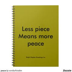 peace note book