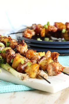 Grilled Teriyaki Glazed Chicken Kabobs