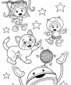 team umizoomi stars coloring pages