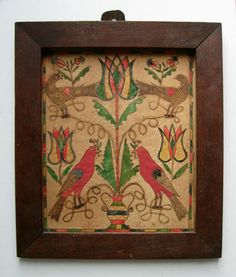 fraktur bird and tulips   Winning bid -> $1,313.00, Mar.  2014.