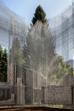 Gallery of Wired Mesh Installation Shapes an Open Air Museum in Italy - 10