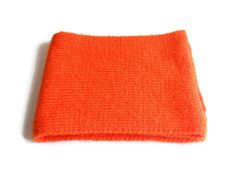 Orange Wool knit scarf for women Knutted Short scarf wool Woman accessories Gift for her Short Scarves, Neck Scarves, Winter Shorts, Ornaments Design, Red Silk, Red White Blue, Womens Scarves, Simple Designs, Hand Knitting